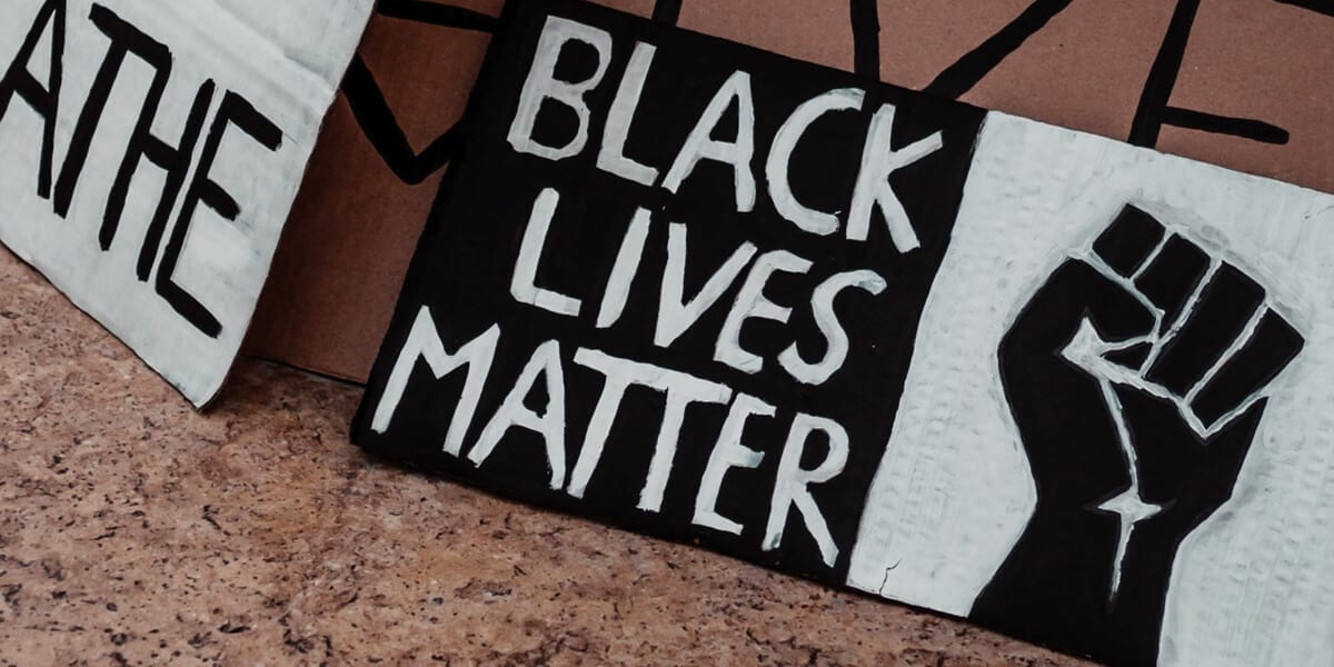 black lives matter cardboard signs