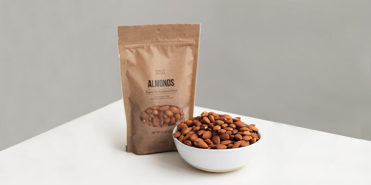 bag of public goods roasted almonds