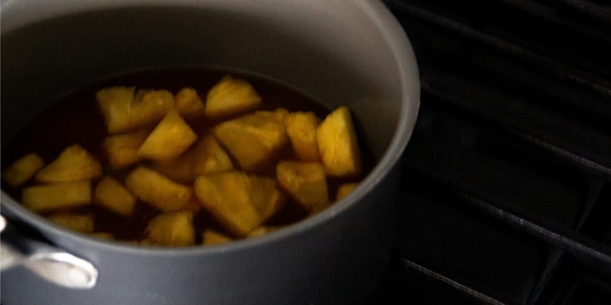 fruit boiling in a pot