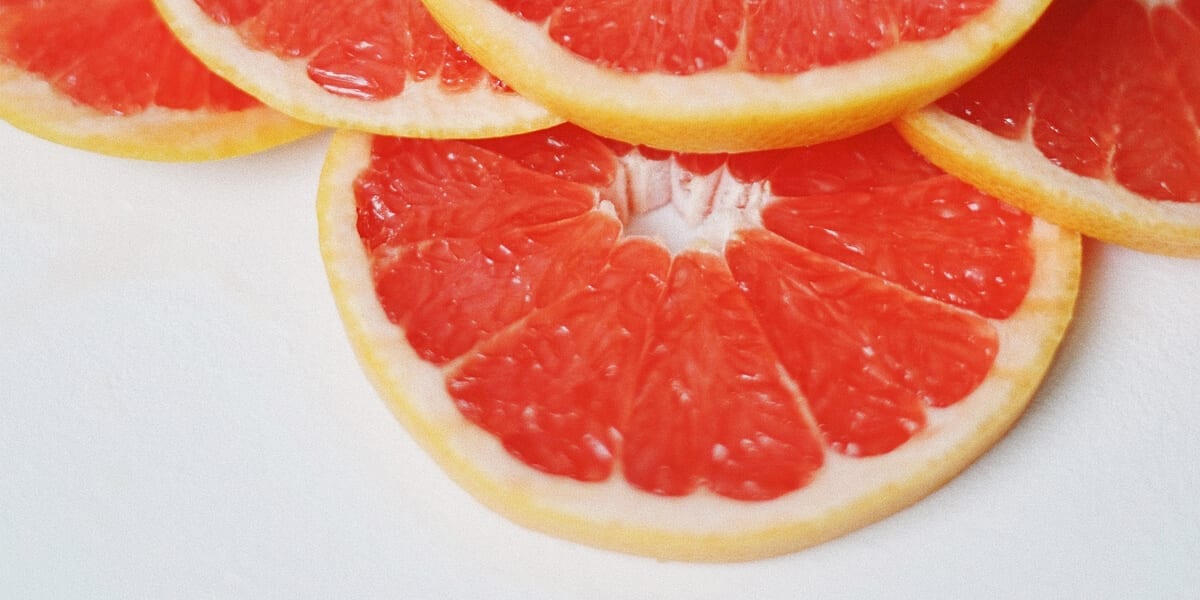 5 grapefruit slices