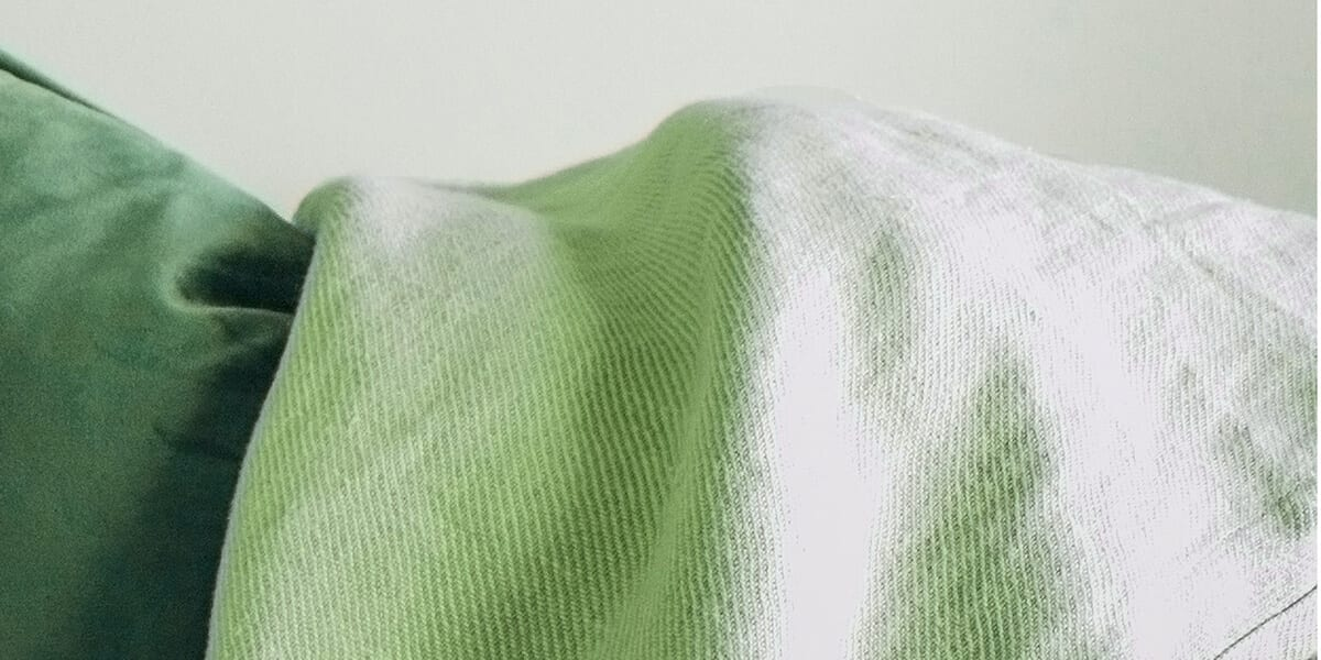 fabric dyed green