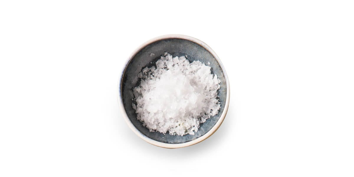 salt in a small bowl