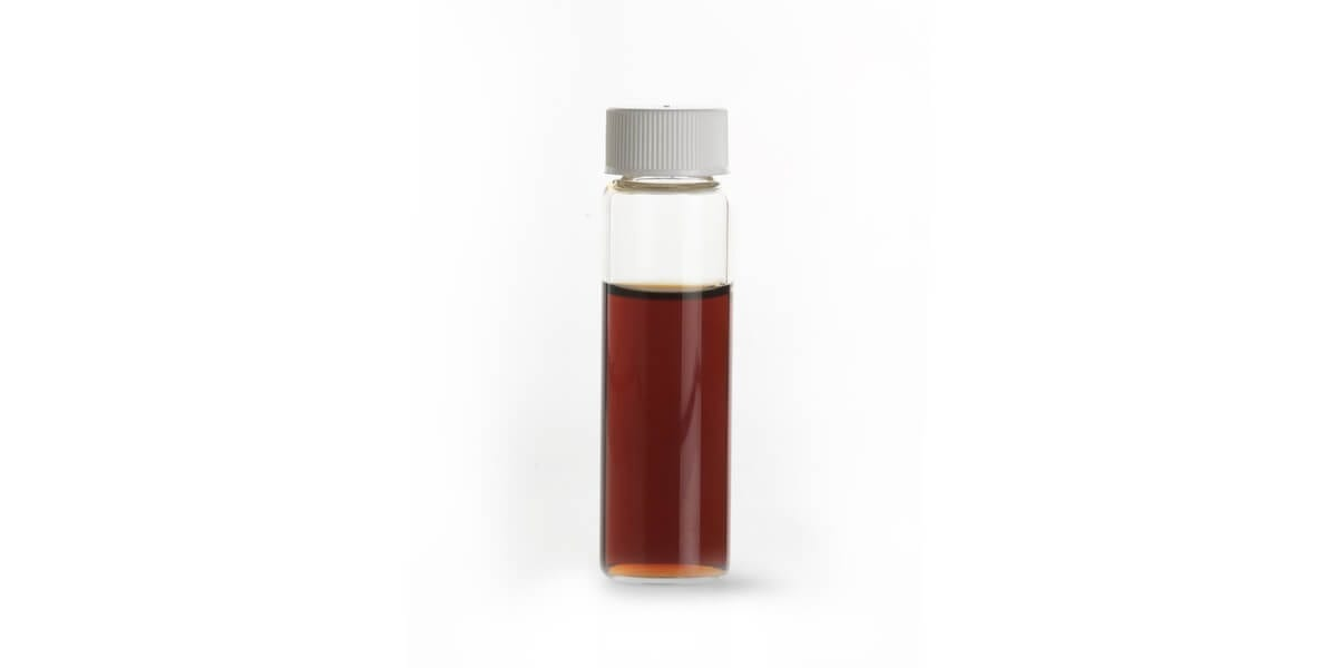 vanilla extract in a glass vial