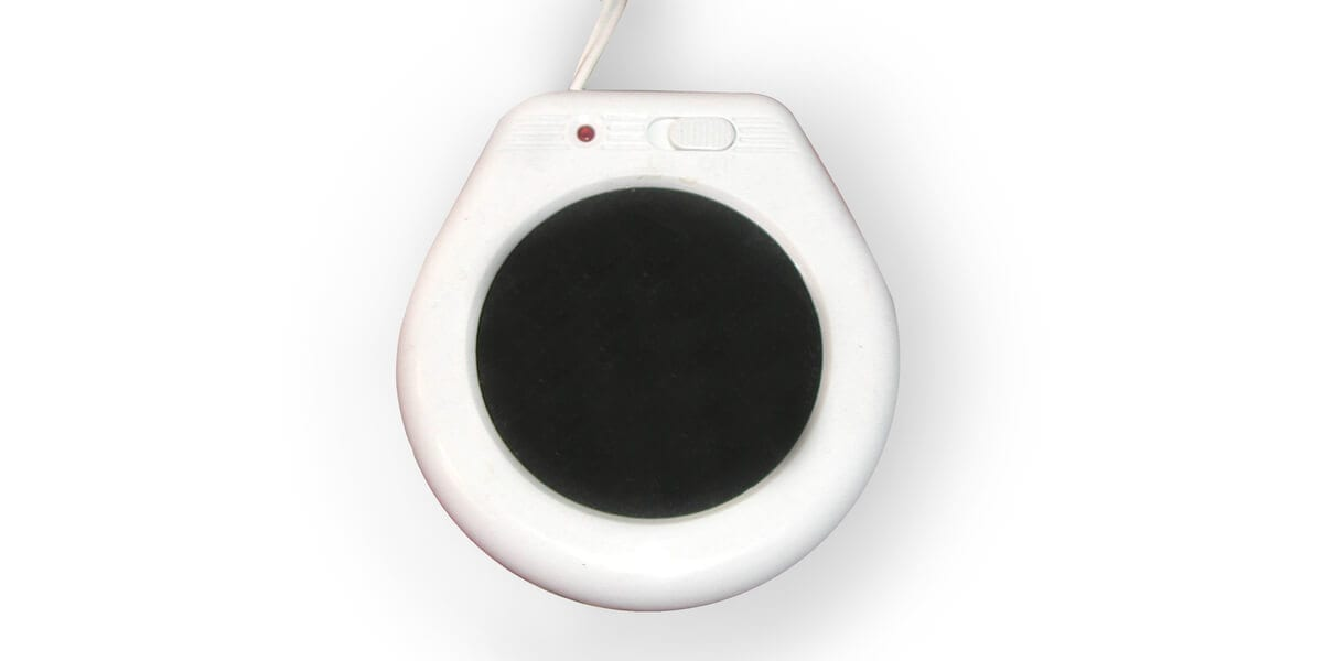 white and black candle warmer