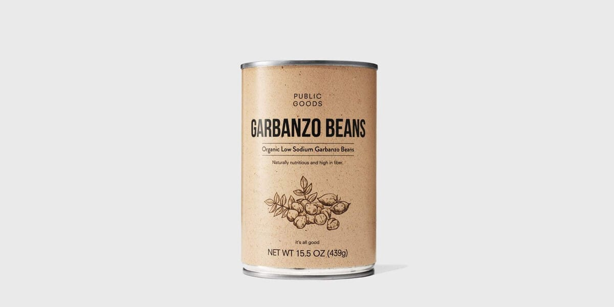 can of public goods garbanzo beans