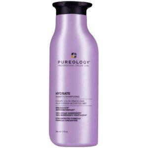 bottle of pureology vegan shampoo