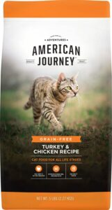 bag of american journey cat food