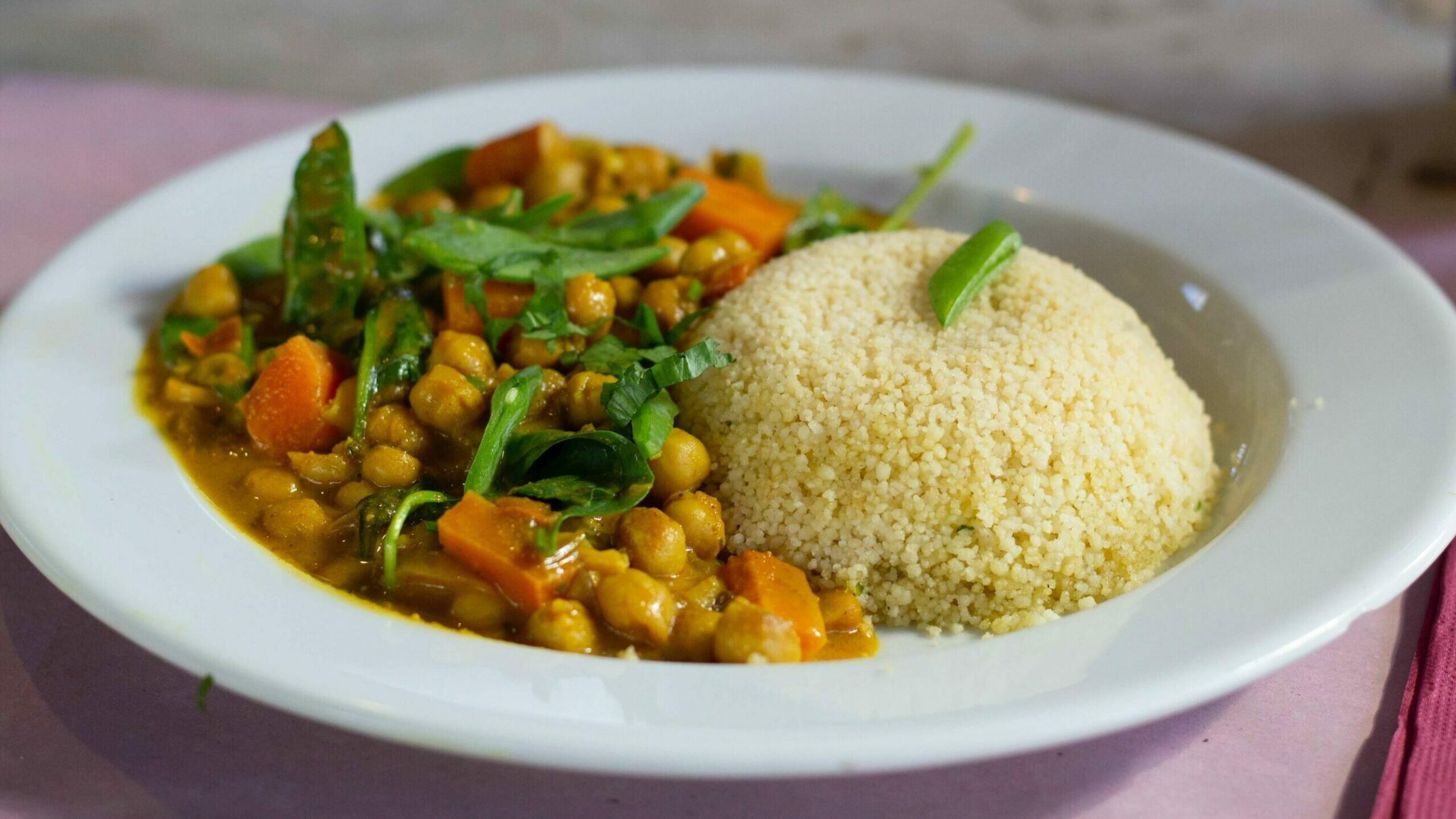 bowl of couscous and vegetables