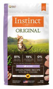bag of instinct grain free kitten food