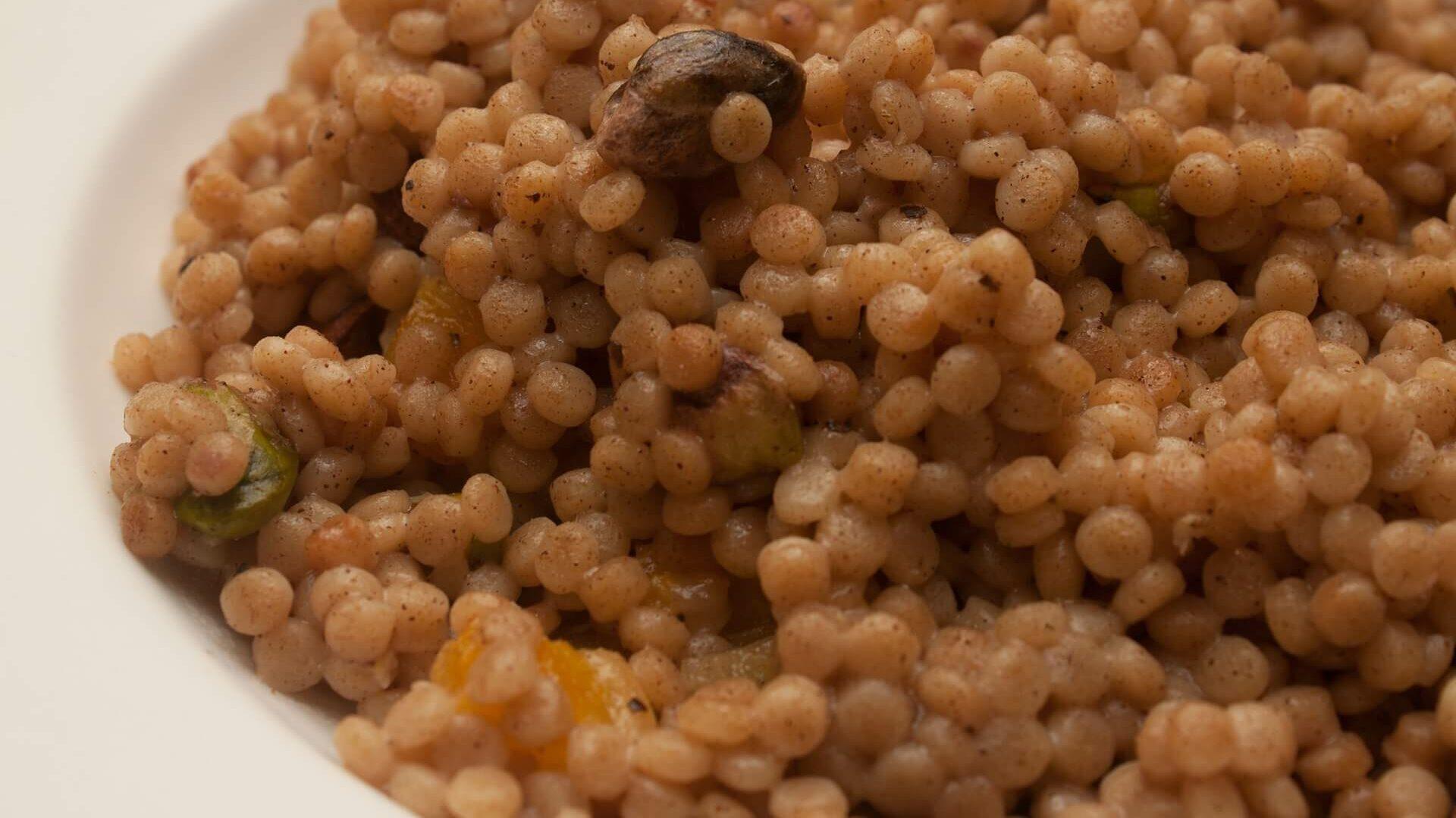 israeli couscous in a bowl