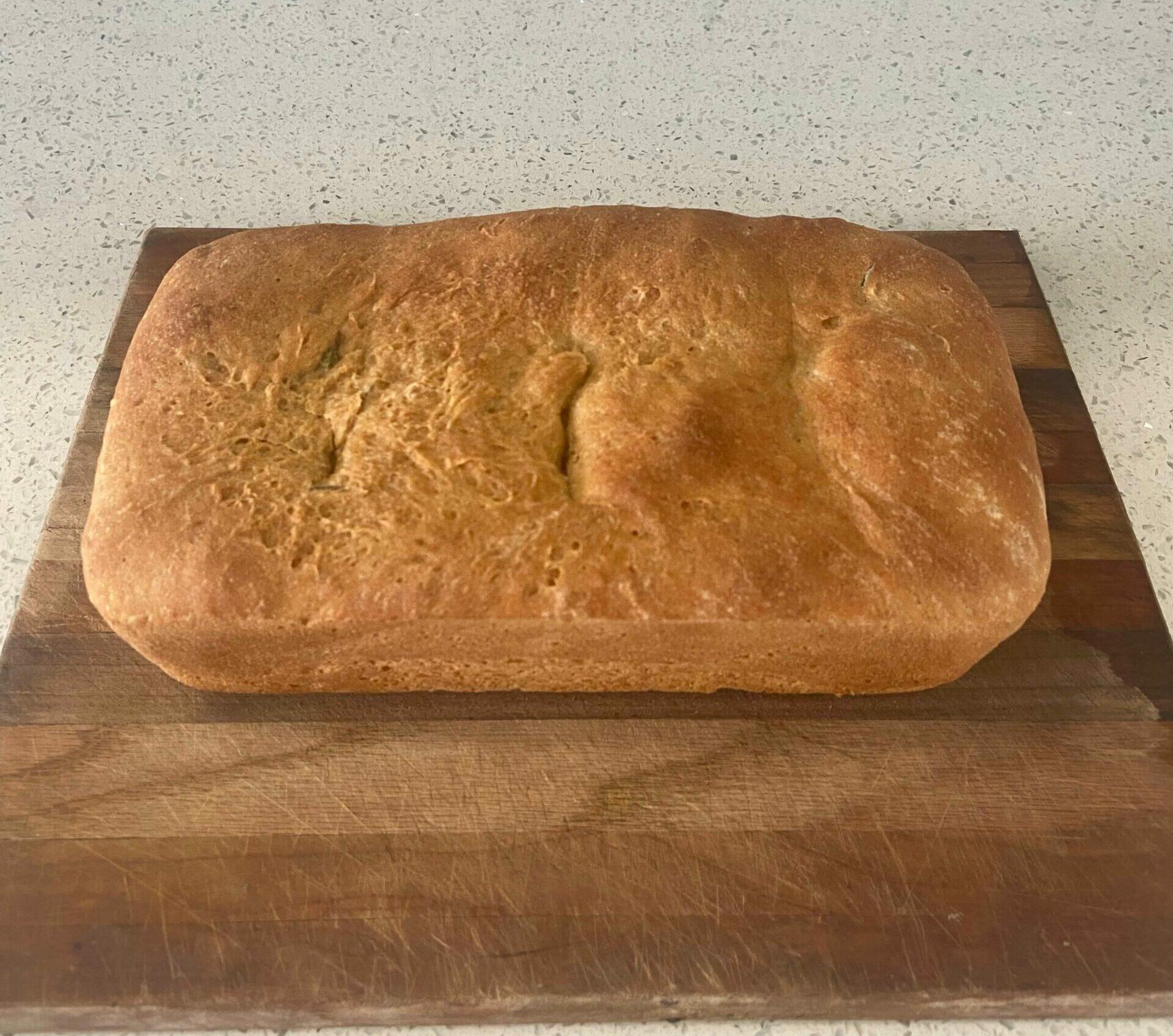 freshly baked whole wheat sourdough bread