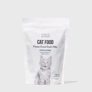 public goods duck nibs cat food