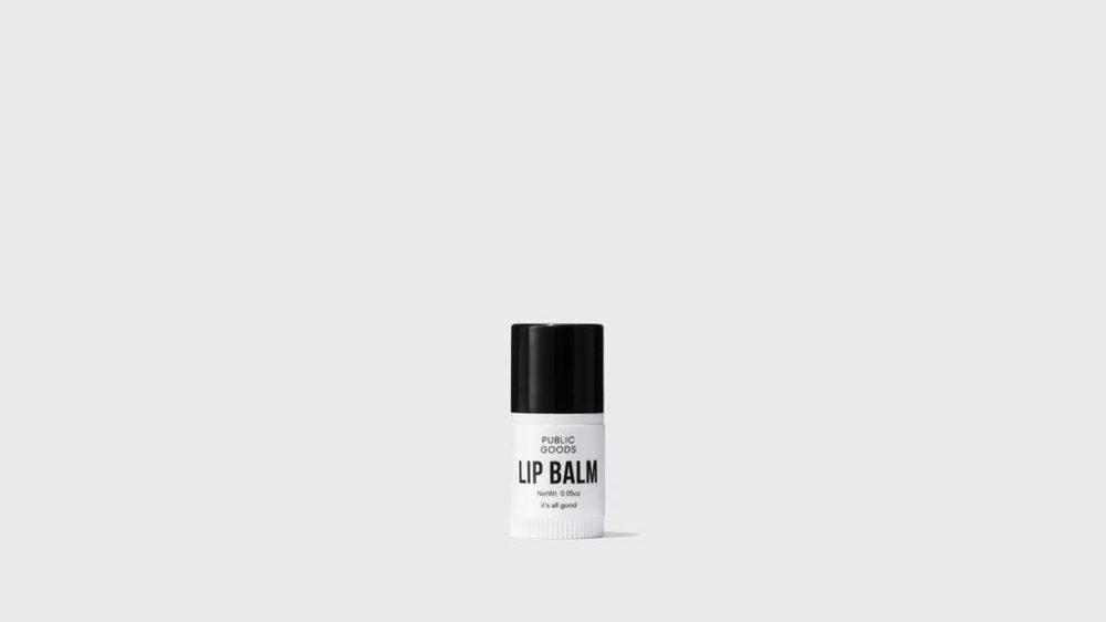 mini lip balm from public goods
