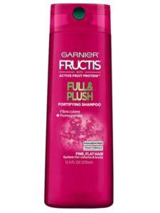 bottle of garnier fructis shampoo