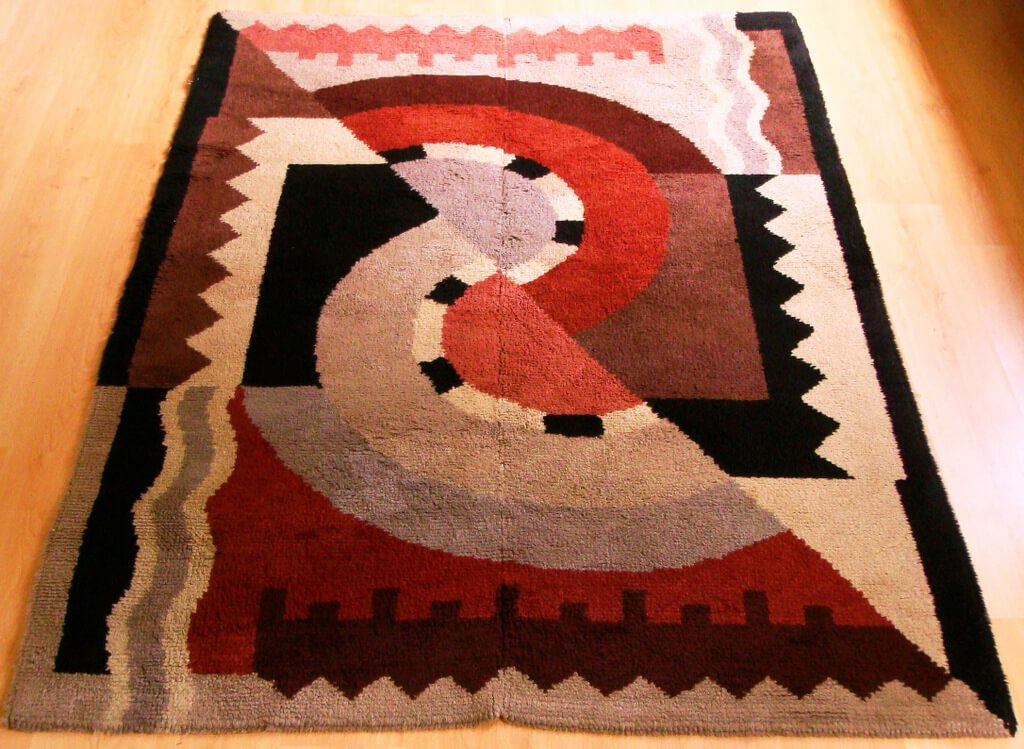 colorful art deco rug