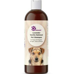 bottle of pet pleasant dog shampoo