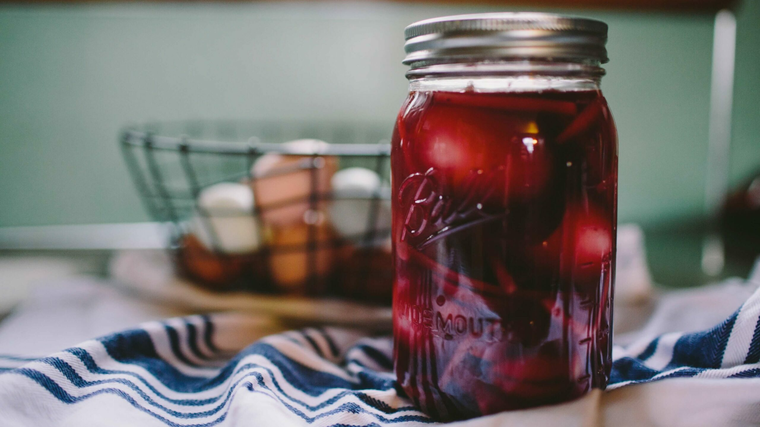 juice in a mason jar
