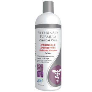 bottle of veterinary formula dog shampoo