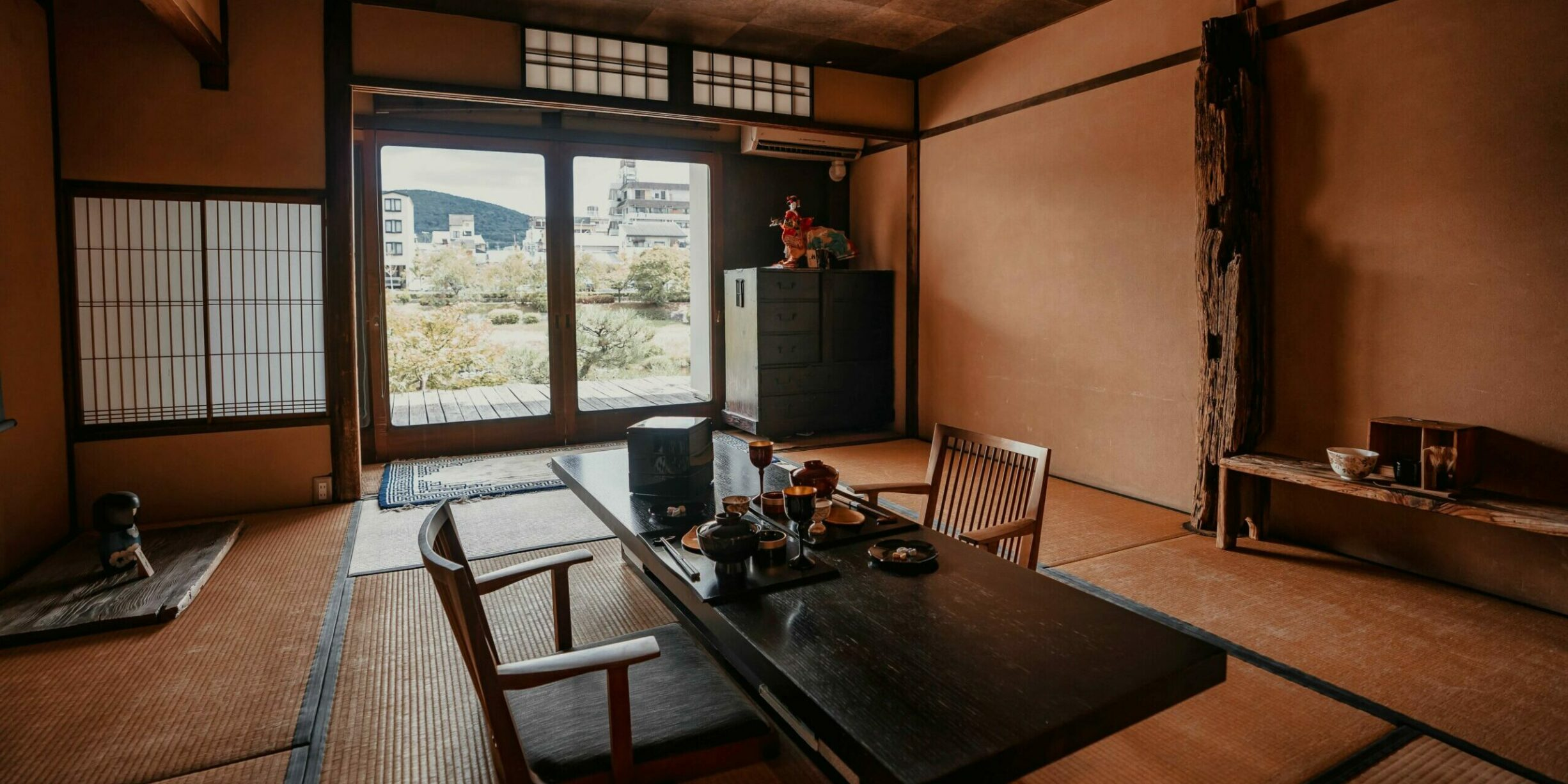 japanese style wooden interior