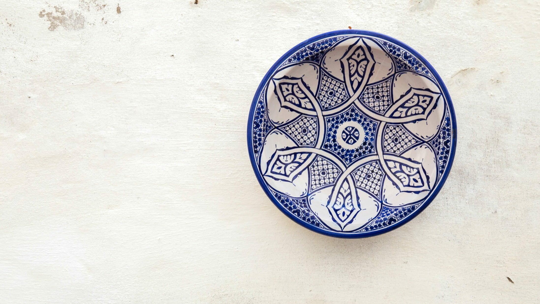 bowl with Moroccan pattern