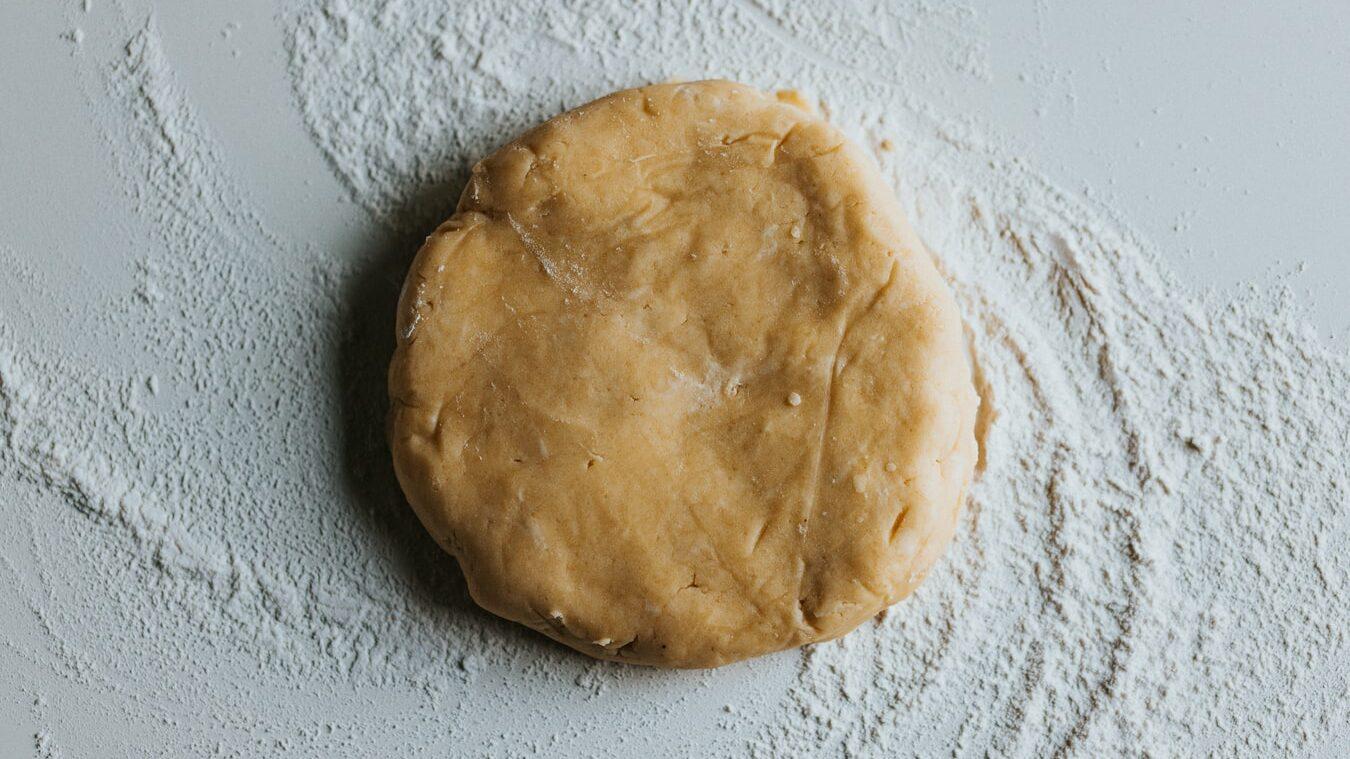 flour made into dough