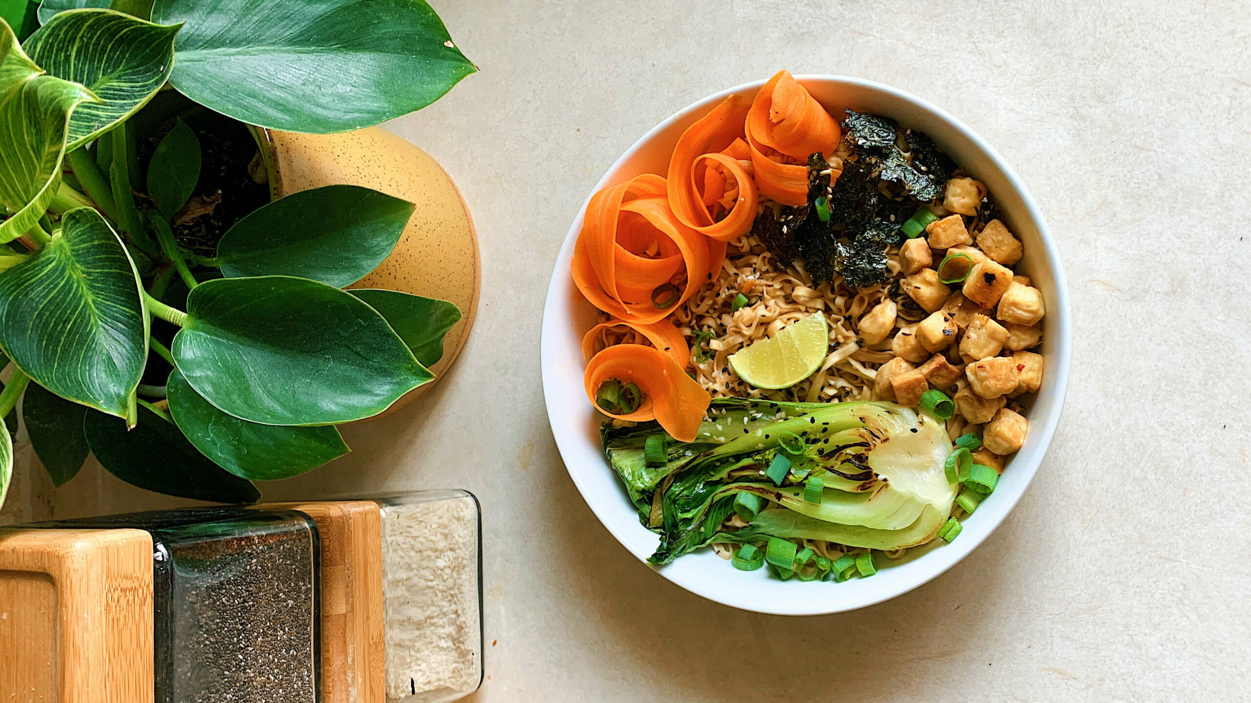 PG Recipes: Sesame Ramen with Veggies & Crispy Tofu