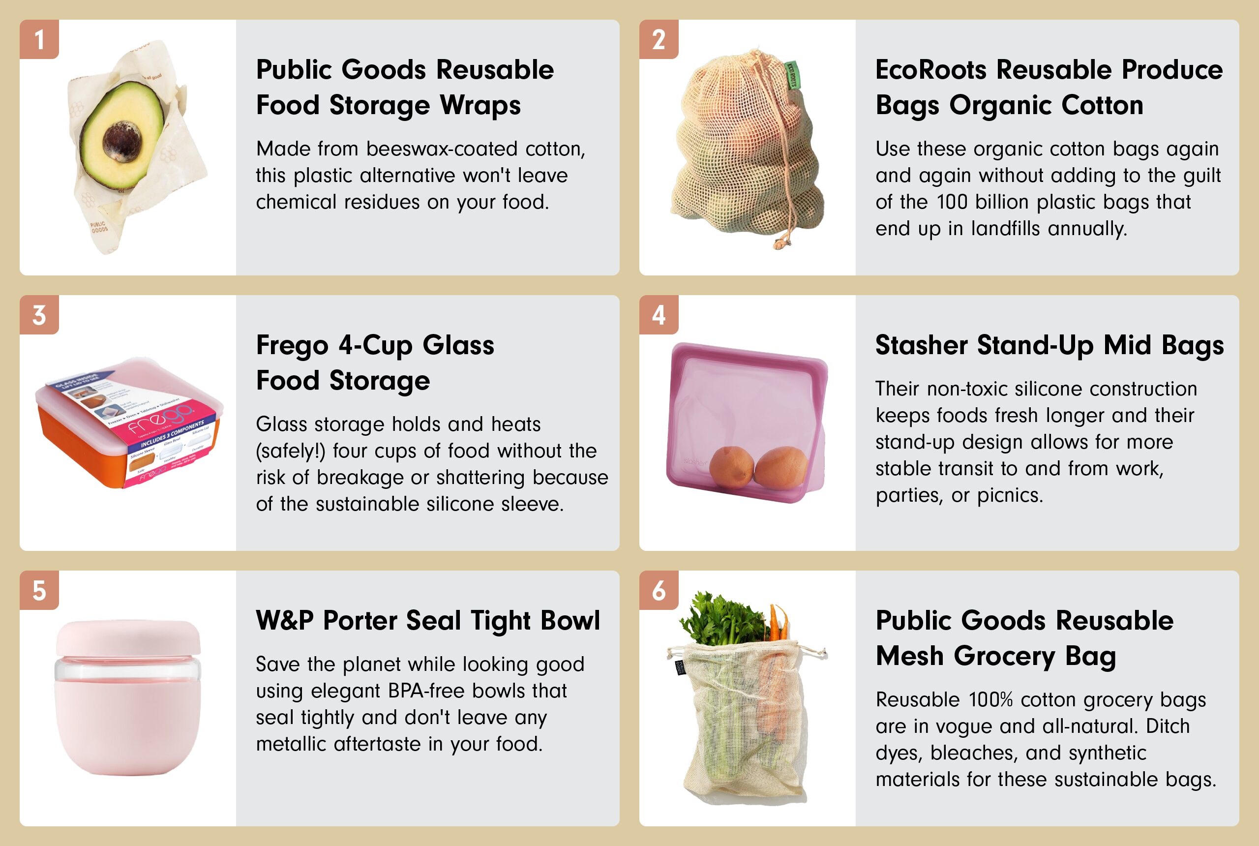 List of reusable food storage containers